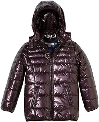 ESPRIT Girl's Hooded Long - regular Jacket Red - Rot (662 BURGUNDY RED) 4 Years