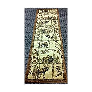Cabin Style Area Rug Runner 2 Ft 2 In X 7