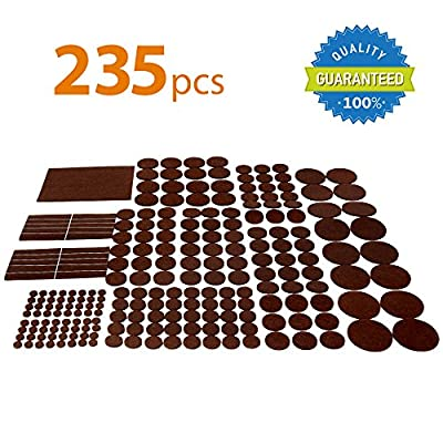 X-PROTECTOR Premium GIANT Pack Furniture Pads 235 piece! HUGE QUANTITY of Felt Pads Furniture Feet with MANY BIG SIZES - Your Best Wood Floor Protectors. Protect Your Hardwood & Laminate Flooring!