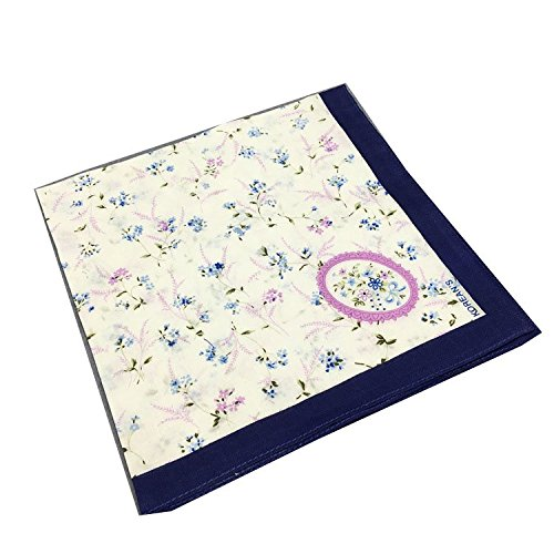 Forlisea Women Flower Print Handkerchief Cotton Hanky 6
