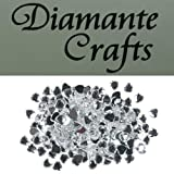 200 x 6mm Clear Diamante Hearts Loose Flat Back Rhinestone Craft Gems - created exclusively for Diamante Crafts