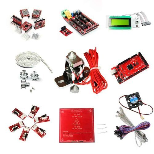 Riorand Ramps1.4+Mega2560 Arduino Compatible,A4988 Stepper Driver,Smart Controller Lcd2004 Display, Heatbed Mk2A, T5 Belt&Pulley,More