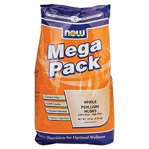 NOW Foods Whole Psyllium Husk, Mega Pack, 10 Pound Bag