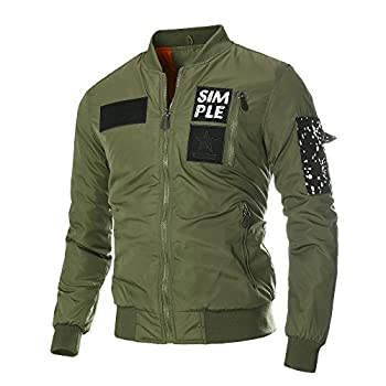 DAVID.ANN Men's Bomber Flight Jacket
