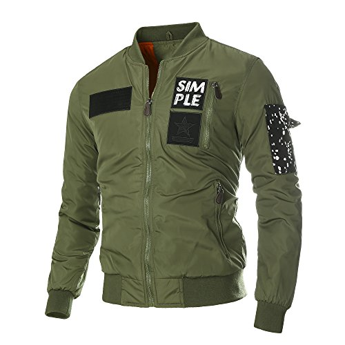 DAVID.ANN Men's Bomber Flight Jacket 0
