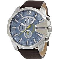 [ディーゼル]DIESEL 腕時計 TIMEFRAMES ブルーダイアル ブラウンレザーベルト DZ4281 【正規輸入品】