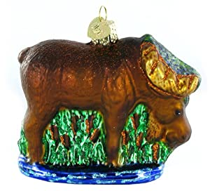 Old World Christmas Munching Moose Ornament