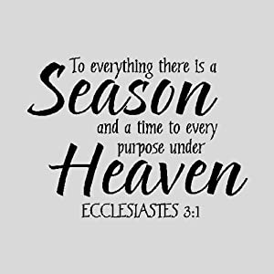 to everything there is a season religious wall quotes words sayings removable. Black Bedroom Furniture Sets. Home Design Ideas