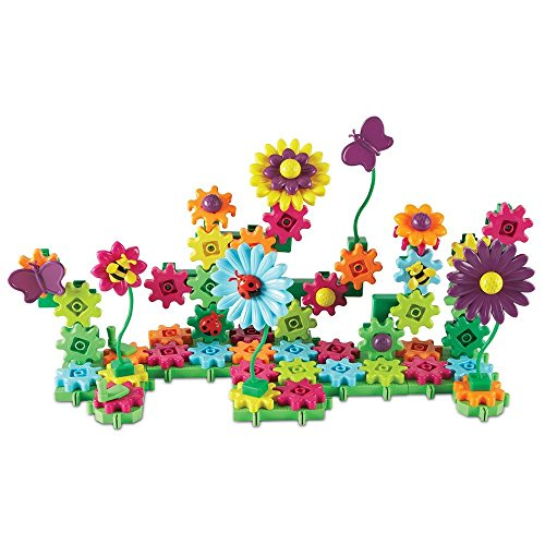 Learning-Resources-Gears-Gears-Gears-Build-and-Bloom-Flower-Garden-Building-Kit