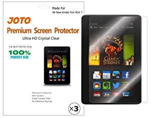 JOTO Premium Screen Protector Film Ultra Clear (Invisible) for New Kindle Fire HDX 7 inch Tablet (will only fit Kindle Fire HDX 7