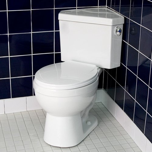 Corner Toilet : corner toilets: Barnum Dual Flush Corner Toilet with Seat - White from ...