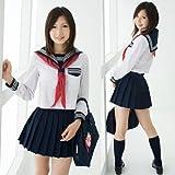 【定番セーラー服】清楚でかわいい!コスプレ/女子高生/制服/中学生8065