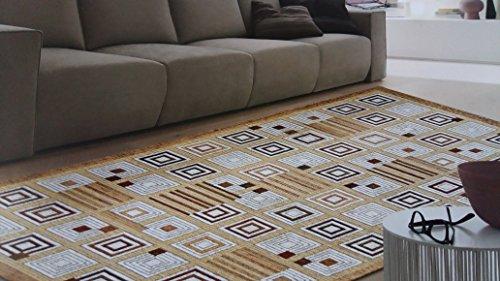 tappeto-sirtaki-quadri-colore-beige-tortora-salotto-living-camera-misura-cm-140x195-in-ciniglia-con-