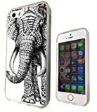 Iphone 4 4S 5 5S 5C Aztec elephant Funky Design Fashion Trend SILICONE GEL RUBBER CASE COVER-Select your phone model from the drop box under (iphone 4 4S)
