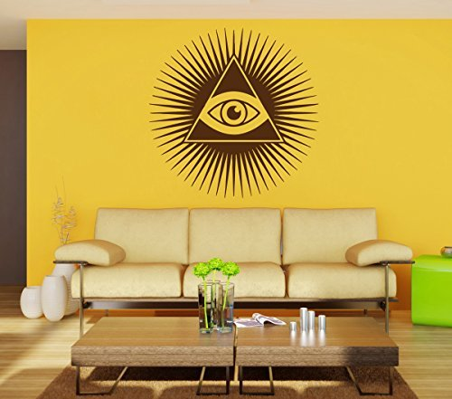 ik897 Wall Decal Sticker all seeing eye symbol living room bedroom