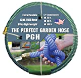 "Tuff-Guard The Perfect Garden Hose, Kink Proof Garden Hose Assembly, Green, 5/8"" Male x Female GHT Connection, 5/8"" ID, 50 Foot Length"