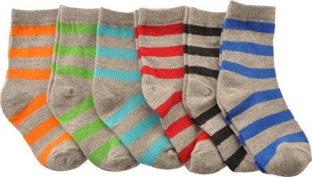 Country Kids Boys' Bold Stripe Organic Sock Quarter Socks,Multi,8-9 Us