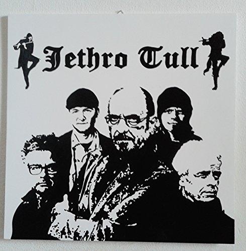 JETHRO TULL QUADRO MODERNO DIPINTO A MANO POP ART ( formato 40 x 40 cm)