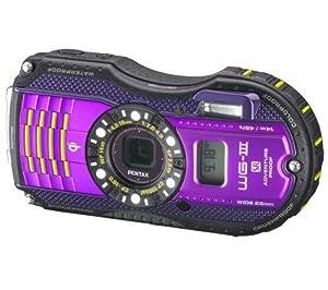 PENTAX WG-3 GPS - violet + Etui semi rigide SLM-C200 - noir + Batterie DLI92