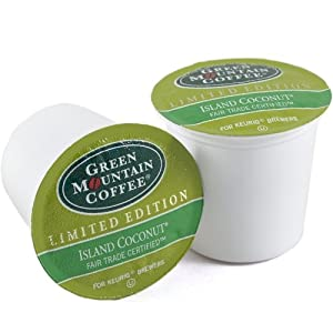 GMC Island Coconut - Green Mountain Coffee Keurig K-Cups, 18-count