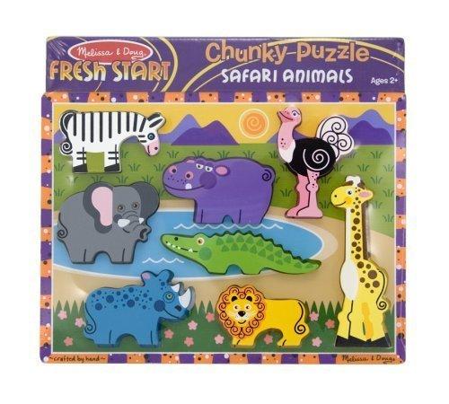 Melissa & Doug Deluxe Wooden Safari Chunky Puzzle - Buy Melissa & Doug Deluxe Wooden Safari Chunky Puzzle - Purchase Melissa & Doug Deluxe Wooden Safari Chunky Puzzle (Melissa & Doug, Toys & Games,Categories,Preschool,Pre-Kindergarten Toys,Puzzles)