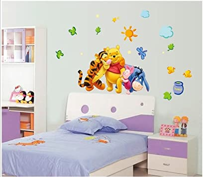 Good Winnie The Pooh And Friends Party Removable Peel u Stick Wall Sticker Wall