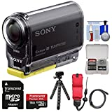 Sony Action Cam HDR-AS20 Wi-Fi 1080p HD Video Camera Camcorder with 16GB Card + Floating Strap + Flex Tripod + Kit