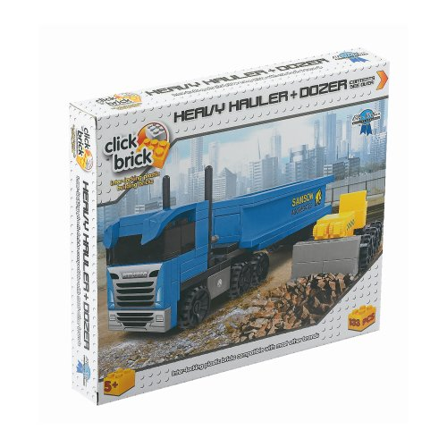 Click Bricks Heavy  Hauler and Dozer(133-Piece) - 1