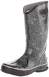 Bogs Women\'s Batik Rain Boot, Black, 8 M US