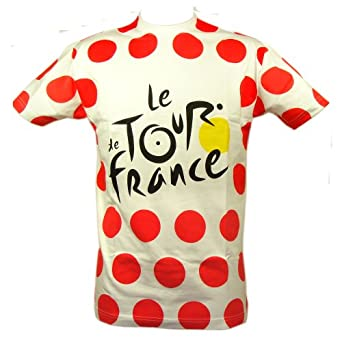 Le Tour de France - Official 'Polka Dot Jersey' Tour de France T-Shirt - Size : S - Color : Red dots