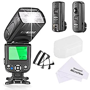 Neewer® NW-562C E-TTL Flash Speedlite Kit for Canon DSLR Camera,Kit Include:(1)NW562C Flash+(1)FC-16 2.4Ghz Wireless Trigger(1 * Transmitter+1 * Receiver)+(1)Microfiber Cleaning Cloth
