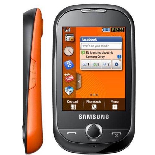 Samsung S3650 Corby Unlocked Quad-Band Cell Phone - Festival Orange