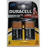 DURACELL 9V ALKALINE BATTERY MN1604-6LR61 (PACK OF 2)