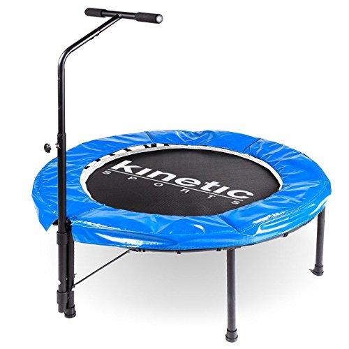Kinetic Sports Trampolino Elastico per Fitness, Diametro 100 cm, Maniglia Regolabile in Altezza 83-123 cm