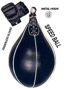 Heavy Duty Speed Ball Punching Bag + Gloves + Hook + New