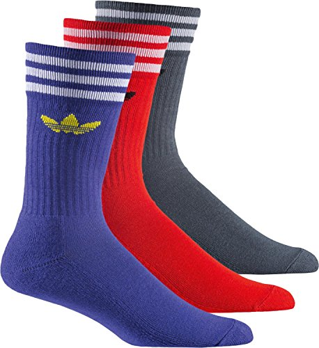 Adidas Calze Solid Crew Sock AB3906 Ngtfla/Red/Boonix (35-38)