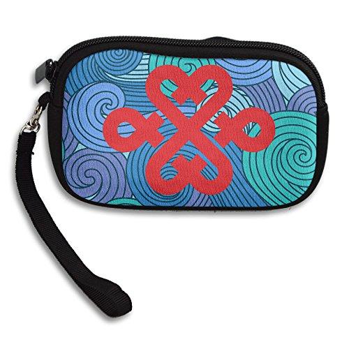 china-unicom-chinese-knot-logo-holder-wallet-black