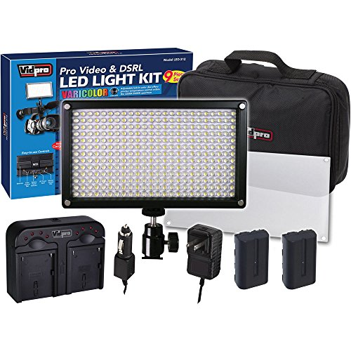 Sony Alpha Nex-F3 Digital Camera Lighting Vidpro Varicolor 312-Bulb Video And Photo Led Light Kit