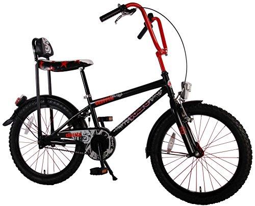 20-Zoll-Volare-Chopper-Kinderfahrrad-Bonanza-schwarz-rot-mit-Sit