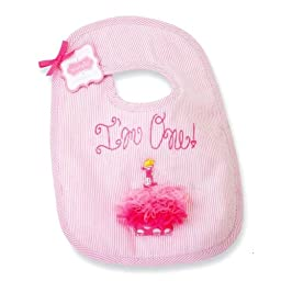 Mud Pie Baby-girls Newborn First Birthday Girl Bib, Pink, One Size