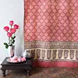 India Rose ~ Luxury Pink Floral Indian Sari Print Shower Curtain 72x72