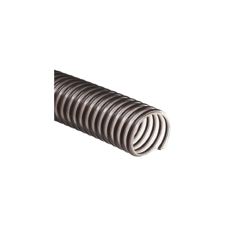 Flex Tube FlexStat Polyurethane Duct Hose, Clear, 1.25 ID, 0.040 Wall, 50 Length