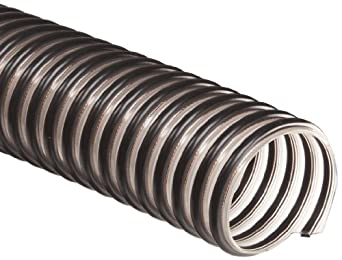 Flex-Tube FlexStat Polyurethane Duct Hose, Clear, For Use With Dust, Chips, Shavings
