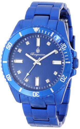 Burgmeister Color Sport Women's Quartz Watch with Blue Dial Analogue Display and Blue Bracelet BM161-090C