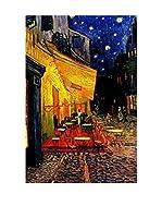Especial Arte Lienzo Terrazza del caffè in Place du Forum Arles di notte Multicolor