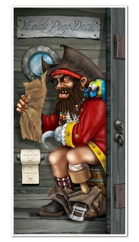 Pirate Captain Restroom Door Cover Party Accessory (1 Count) (1/Pkg) front-969405
