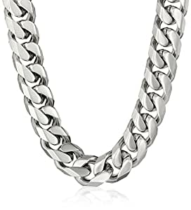 Men's Stainless Steel Cuban Link Curb Chain Bracelet/Necklace Set