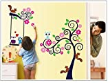 Asmi collection PVC Wall Stickers Wall Decals Kids Tree Owl Squirrel