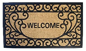 Huffco Welcome Tuff Ridge Entrance Mat,Style May Vary