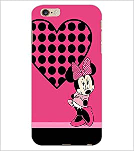 PrintDhaba Minnie Mouse D-1450 Back Case Cover for APPLE IPHONE 6 PLUS (Multi-Coloured)